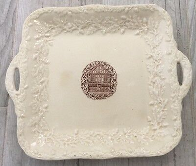 Masons Patent Ironstone China England Compliments Of Beeshys Collectable Tray