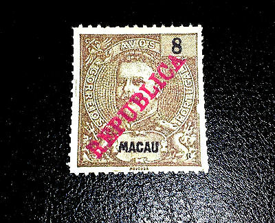 Macao 1913 King Carlos Local Print In Red Republic, Fake