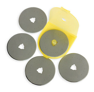 OLFA NEW 60mm Tungsten Tool Steel Rotary Blades Pack of 5 Premium RB60-5 9458