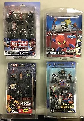 HeroClix LOT 4 PACKS-Civil War, Spiderman tabapp+greatest foes,DC World's Finest