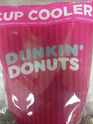 2017 Dunkin' Donuts Medium Cup Koozie / Cup Cooler (24oz) Pink, Iced Coffee/Tea