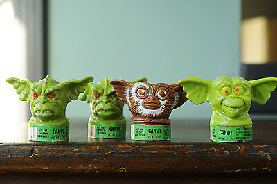 Gremlins Candy Containers Warner Bros. Gizmo Heads 1990
