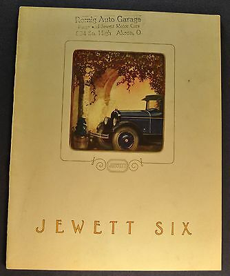 1925 Jewett Six Catalog Sales Brochure Excellent Original 25