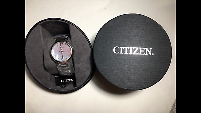 Citizen Eco-Drive L Collection Stainless Steel Womens Watch Em0550-59D