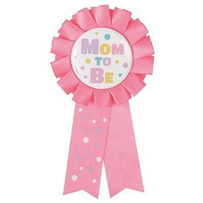 "Mom to Be "", colore: rosa Baby Shower, motivo a rosetta - NUOVO"