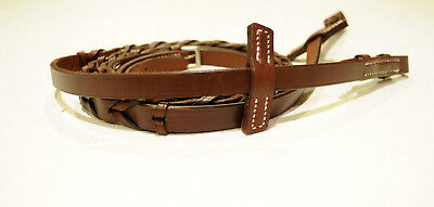 NEW Stubben laced reins brown matches bridle