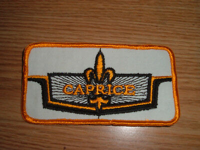 VINTAGE CHEVROLET CAPRICE  EMBROIDERED  PATCH EMBLEM BADGE nos