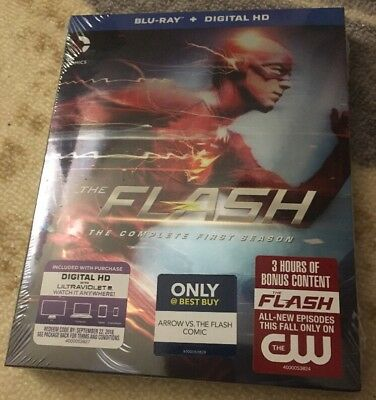 The Flash: Complete 1st Season Blu-ray W/ HDUV Best Buy Ex. Comic Free US Ship
