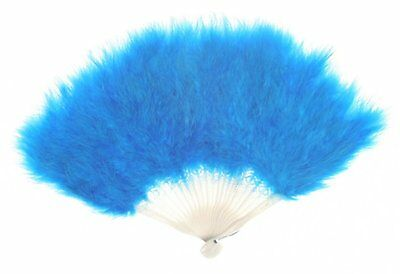 Zucker Feather Products Large Marabou Feather Fan, Dark Turquoise