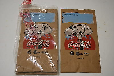 13 - Coca-Cola flat bootom lunch bags - 13 of 15 bags - Playful Bears - Cute!!