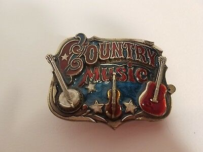 Vintage, Western, Country Music Belt Buckle by The Great American Buckle Co.