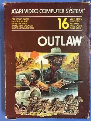 Atari Video Computer System Cartridge Outlaw
