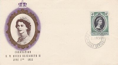 BC2) Pitcairn Is. 1953 Coronation unaddressed, illustrated FDC.