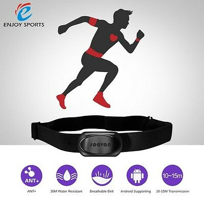 Heart Rate Monitor Chest Strap Fitness ANT+Bluetooth 4.0 for Bryton Garmin Polar