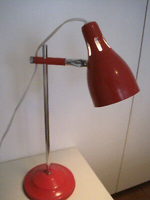 Retro Red Adjustable Desk Lamp