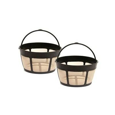 2 Pack for Cuisinart GTF-B Gold Tone Coffee Filter 8-12 Cup Permanent Basket