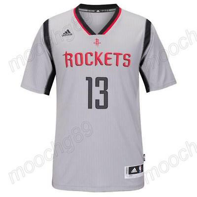 New gray Houston Rockets #13 James Harden Basketball Jersey Size:S-XXL