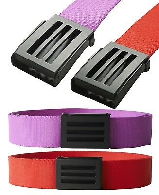 2017 Adidas Golf Mens 3-Stripes Webbing Belt - One Size - RRP£20 - Red Or Pink