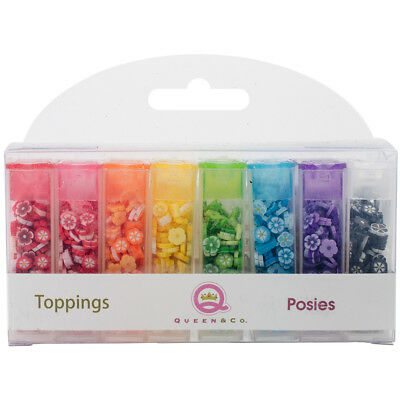 Queen & Co Topping Set 8/Pkg Posies TOP1031