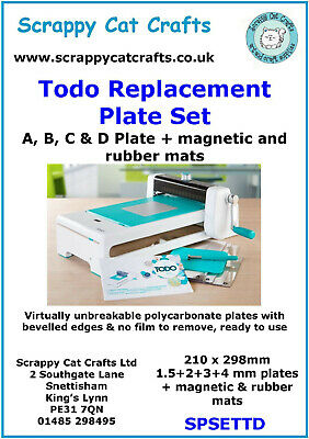 Todo Replacement Plate Set A,B,C,D : 21002