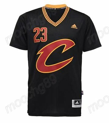 New black Cleveland Cavaliers #23 LeBron James Basketbal Jersey Size:S-XXL