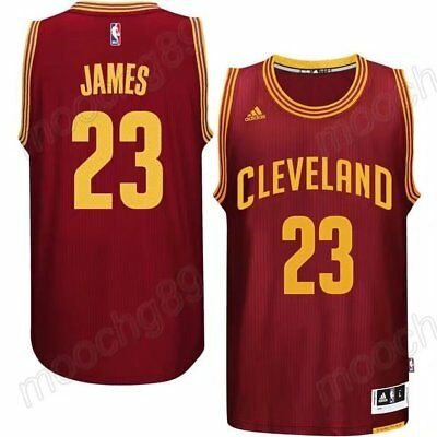New Red Cleveland Cavaliers #23 LeBron James Basketbal Jersey Size:S-XXL