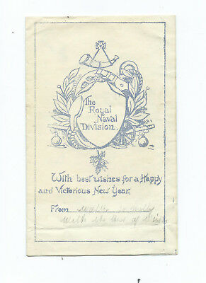 WW1 Royal naval Division Gallipoli Folding Xmas Card