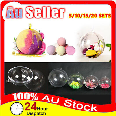 Round Ball Clear DIY Bath Bomb Mold Mould Cake Plastic craft Hanging xmas