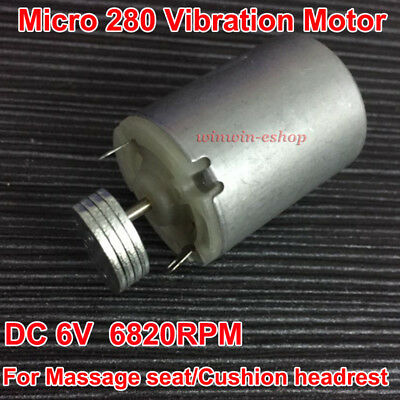 DC 6V 6820RPM 280 Vibration Vibrator Motor Double Shaft For Toy Massager Cushion