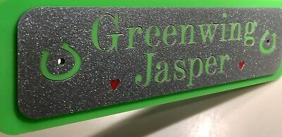 Personalised Stable Door Sign, Horse/Pony Name, Horse Name Plate Plaque