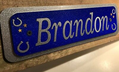 Quality Personalised Horse/Pony Stable Door Sign / Name Plate /Plaque 13hh 14hh