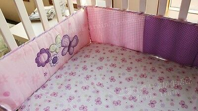 *** Pink and Purple Butterfly Baby Crib/Cot Bumper ***