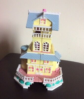 Vintage Polly Pocket Clubhouse Pop-Up Party Play House Victorian mansion 1995