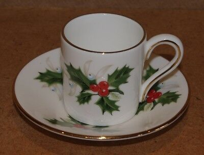### Lovely Vintage Royal Grafton Demitasse Coffee Can And Saucer ###