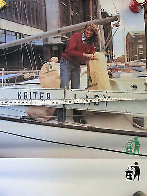 Vtg Dame Naomi Christine James Keep Britain Tidy Poster 50 X 38 Cm Green Issues