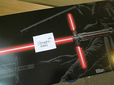 Kylo Ren Lightsaber Force Fx Black Series Deluxe Tfa Star Wars New Light Saber
