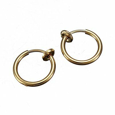8 PCS Set Faux Piercing De Nombril Nez Oreille d'or WT