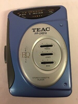 TEAC PP-24EQ Personal Stereo Cassette Player AM/FM Radio Blue