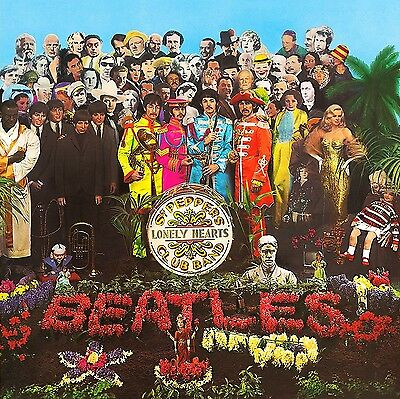 The Beatles-Sgt Pepper's Lonely Hearts Club Band 60's Vinyl LP Sticker Or Magnet