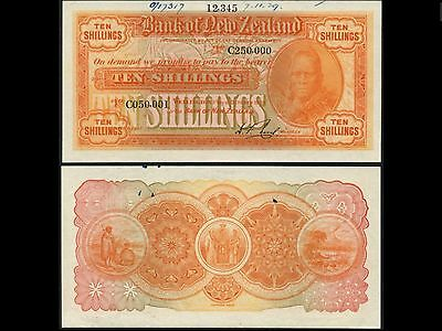 Bank Of New Zealand, Printers Archival Specimen 10 Shillings,1929, Unc