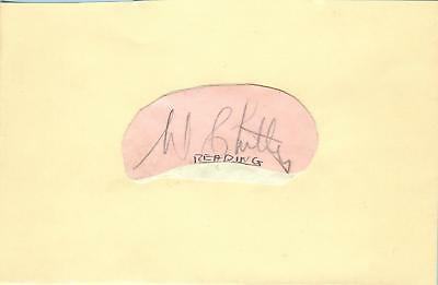 WILF CHITTY 1930's> CHELSEA, PLYMOUTH, READING etc HAND-SIGNED ALBUM PAGE