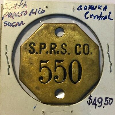 Central Guanica South Porto Rico Sugar Company Placa Octagonal Low 3 Digit No.