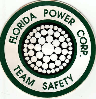 **Defunct Florida Power Corporation Team Safety Decal/Sticker