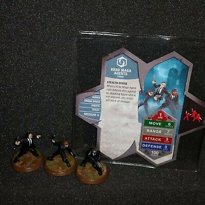 Official Heroscape Krav Maga Agents Rise of the Valkyrie Figures w/ Card