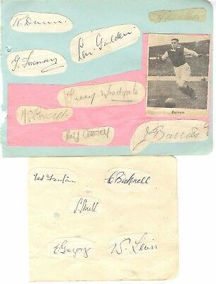 WEST HAM UTD 1943/4 PLAYERS x13 HAND-SIGNED ALBUM PAGES - BARRETT, FENTON etc