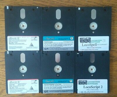 """Amstrad Cpx Pwc Software  3"""" Floppy Disks Cf2 X 6"""