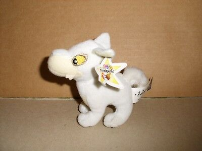 2004 Neopets Soft Plush 4'' White Lupe Mcdonalds Promotion  With Tags