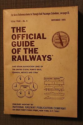 1969 The Official Guide of the Railways: National Railway Publication Company