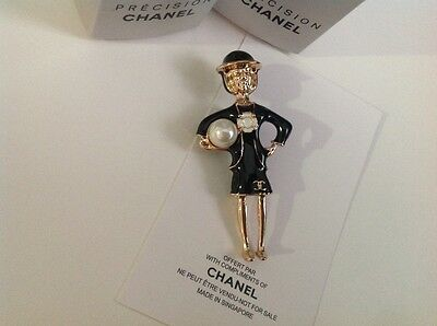 New//Auth Chanel Vip gift coco perfume brooch pin in black!!!!!!