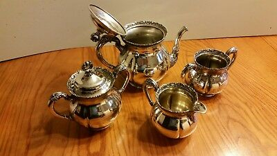 Forbes Silver Co. Quadruple Silver Plated Tea Set